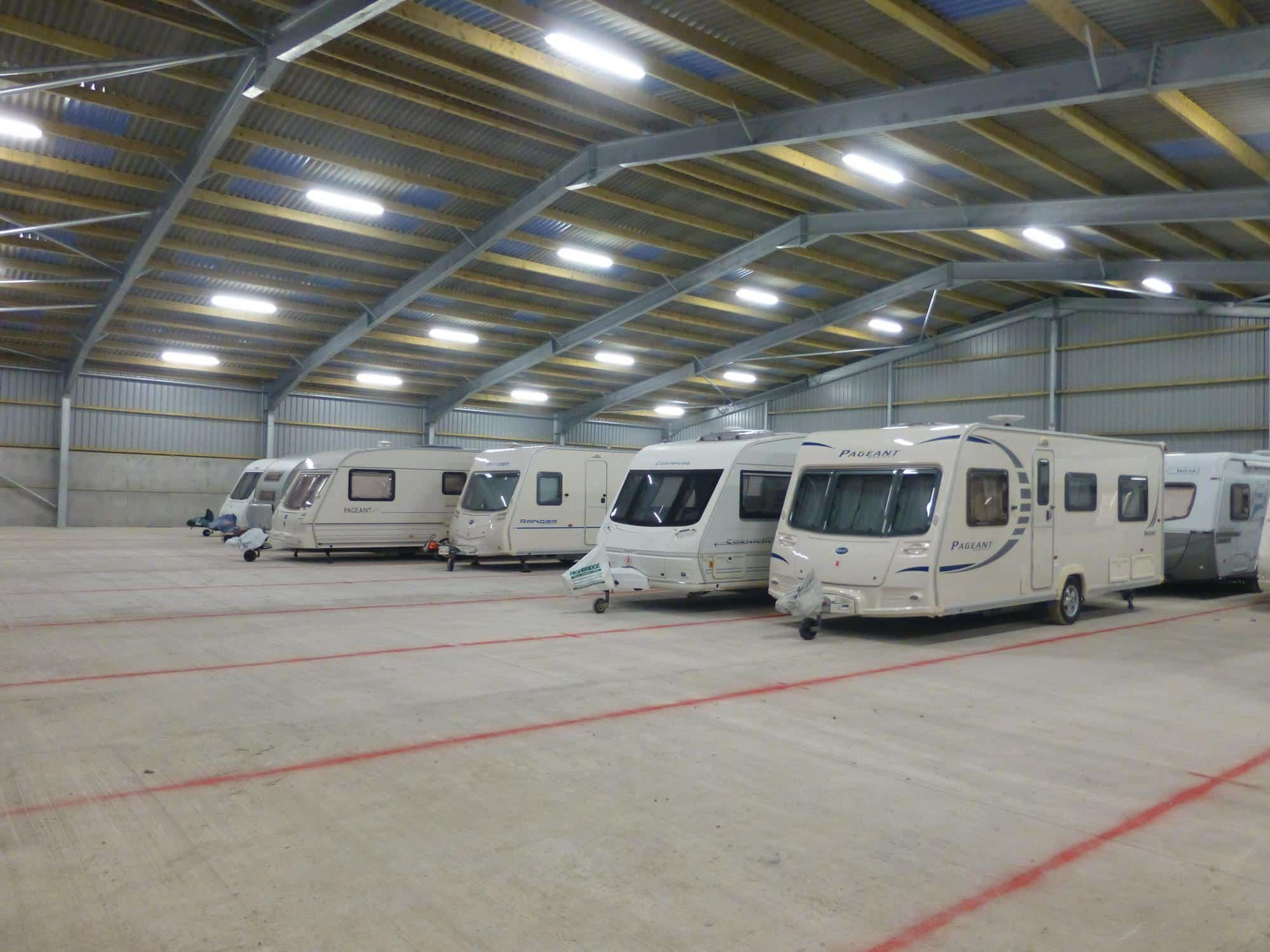 are Caravan Storage open? A Picture of the storage unit at Secure Caravan Storage